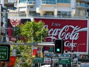 Heritage protected, landmark, Coke billboard