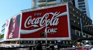 Coke billboard, Sydney, Australia