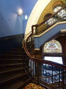 Stairs, Stained Glass, Color