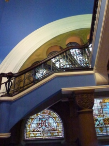 Stained Glass, Stairs, Color