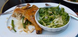 chicken, salad, food, Cote, Parisian bistro in London, London
