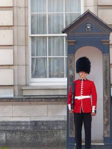 Buckingham Palace guards, England, London
