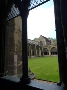 Westminster Abbey inner court, London, England