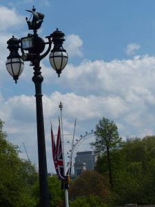 London Eye, British flag