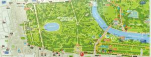 Kensington Gardens, map, London, Kensignton