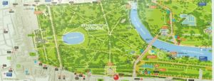 Kensington Gardens, map, London, Kensignton