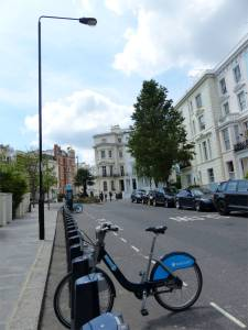 bicycle, mews, London, England