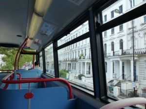 double-decker bus, London, England