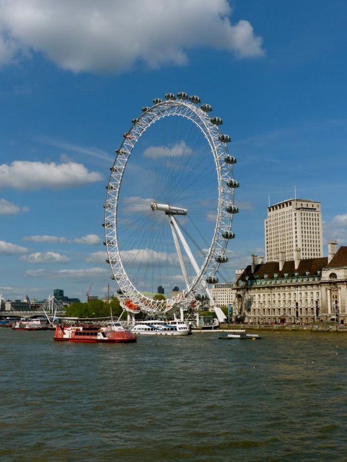 London Eye, ferris wheel, London, England