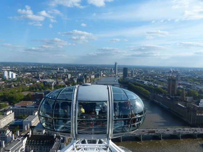 London Eye, London Eye view, London