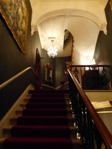 The Gore Hotel, London, England, stairs