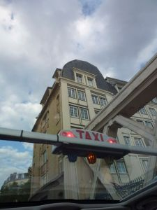 Paris, France, taxi, sunroof