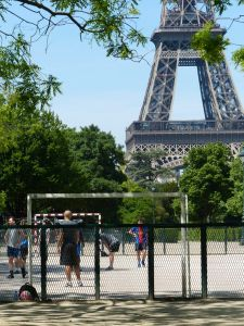 steel, Eiffel, 7th arrondissement, tower, icon of Paris, Paris, France, tower. soccer