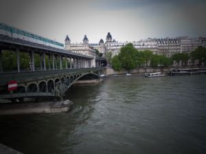 bridge, train, architecture, River Seine, Paris, France