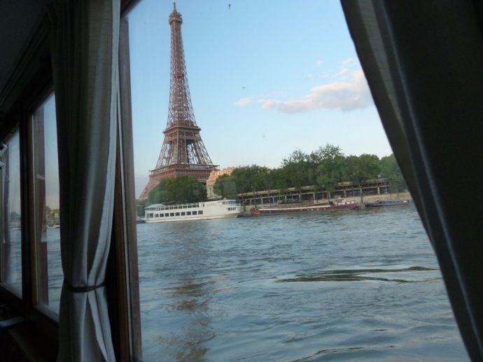 péniche, Soleil, River Seine, 7th arrondissement, houseboat, boat, Paris, France, quay, river,  Eiffel Tower