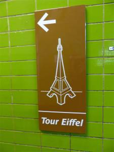 Eiffel Tower, Paris, France, sign