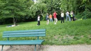 Parc des Buttes Chaumont, tai bo, 19th arrondissement, Paris, France, park