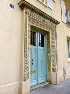 19th arrondissement, Quartier de la Mouzaia, Paris, France, door