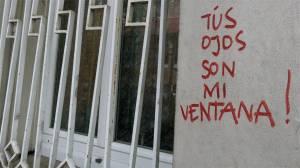 Tus Ojos Son Mi Ventana, 19th arrondissement, Quartier de la Mouzaia, Paris, France, window, graffiti