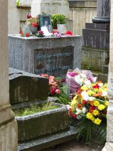 Pierre Lachaise, 20th arrondissement, Paris, France, cemetery, R.I.P., tombs, graves, Jim Morrison