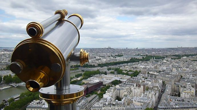Le Jules Verne, Eiffel Tower, 6th arrondissement, Parisian restaurant, table with a view, Paris, France
