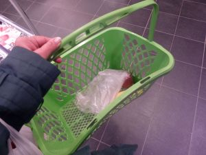 shopping basket, basket, Carrefour, supermarket, 19th arrondissement, Paris, France
