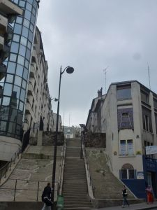 stairs, climb, Paris, France, 19th arrondissement