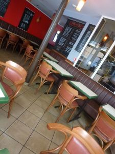 Parisian café, Paris, France, 19th arrondissement, café