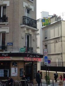 Parisian café, 19th arrondissement, Paris, France