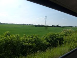 train travel, France, Amiens, Gare du Nord, countryside