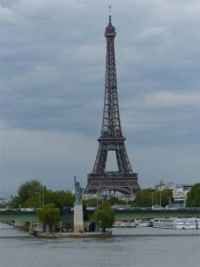 mini Statue of Liberty, Paris, France, Eiffel Tower, 16th Arrondissement, bridge, River Seine