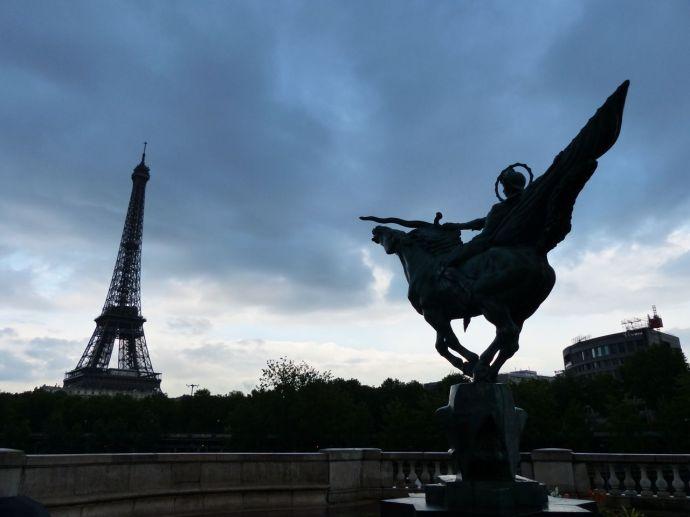 La France Renaissante, Eiffel Tower, Paris, France, River Seine