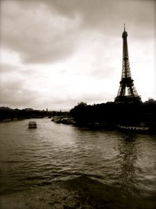 River Seine, Eiffel Tower, Paris, France