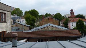 Paris, France, 19th arrondissement, rooftop, windows