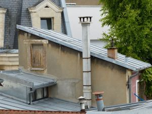 Paris, France, 19th arrondissement, rooftop, window