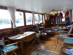 7th arrondissement, péniche, houseboat, Paris, France, River Seine