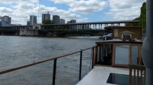 péniche, Soleil, River Seine, 7th arrondissement, houseboat, boat, Paris, France, quay, river,