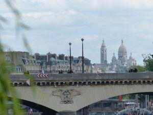 péniche, Soleil, River Seine, 7th arrondissement, houseboat, boat, Paris, France, quay, river, Eiffel Tower, Sacre Cour
