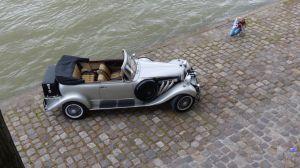 Car, antique car, photo shoot, 6th arrondissement, Paris, France