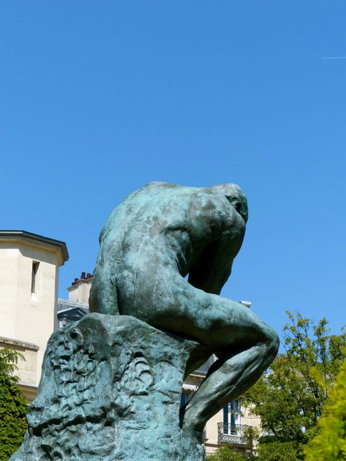 Musée Rodin, Paris, France, Rodin, sculpture, thinking, 7th arrondissement, museum