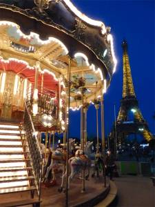 carousel, Eiffel Tower, 7th arrondissement, Paris, France
