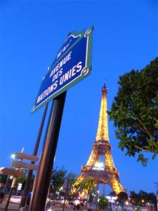 Eiffel Tower, 7th arrondissement, Paris, France, Ave. des Nations Unies