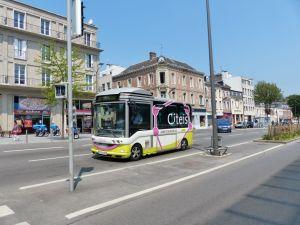 miniature bus, Amiens, Fance