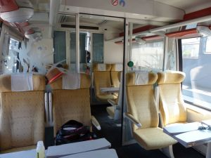 SNCF, train interior, Amiens, France