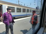 train workers, train, Amiens, France