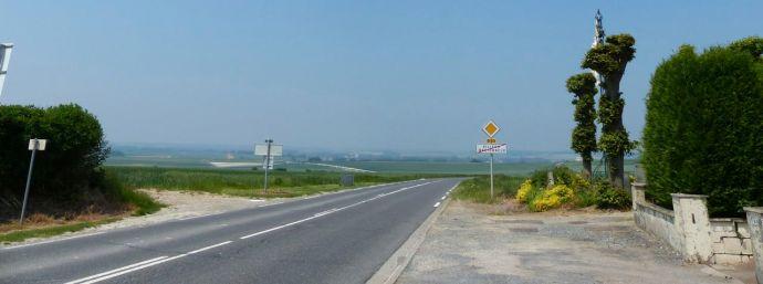 sign, leaving town, Villers Bretonneux