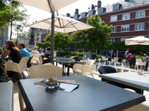 Amiens, France, outdoor café