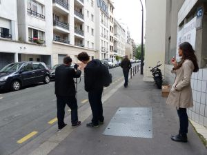 filiming, 20th arrondissement, street scene