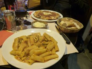 Seafood pasta, Italian restaurant in Paris, pasta, yummy, comfort food