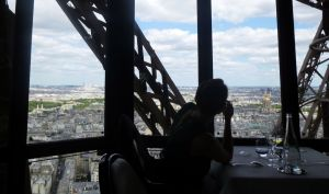 Paris, France, Le Jules Verne, Eiffel Tower, table with a view, food, Parisian restaurant,